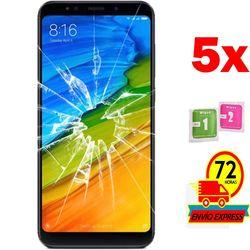 5x Protectors Screen szkło hartowane dla Xiaomi Note Redmi 5 (nie pełne patrz informacje) Etui do ekranu telefonu    -