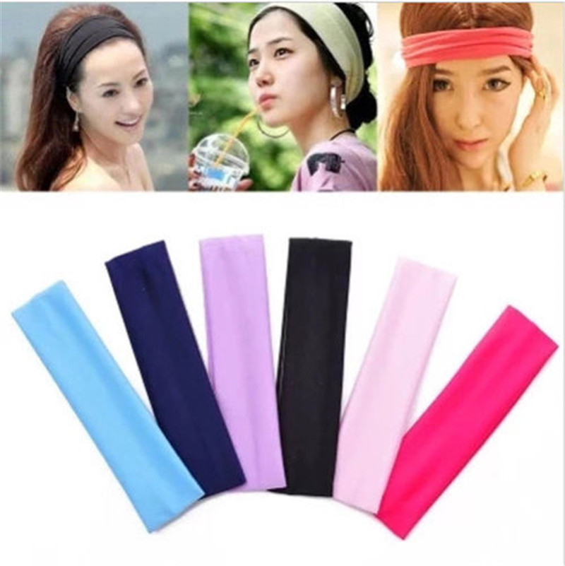 13 Colors Women Elastic Headband Yoga Basketball Gym Sport Stretchy Hair Band Sweat Headband Hair Accessories For Women