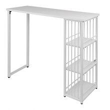 1PC cuisine barre comptoir Table bistrot Table petit déjeuner salle à manger Table basse avec 2 niveaux étagère de rangement étagères pour affichage de boissons