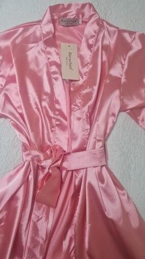 New Kids Robe Satin Children Summer Kimono Bath Robes Bridesmaid Birthday Girl Dress Silk Children Girls Bathrobe Nightgown Robe photo review
