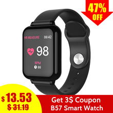 купить Smart Watch B57 Fitness tracker Waterproof Blood Pressure Blood Oxygen Heart rate Waterproof Women men fitness bracelet PK Q9 дешево