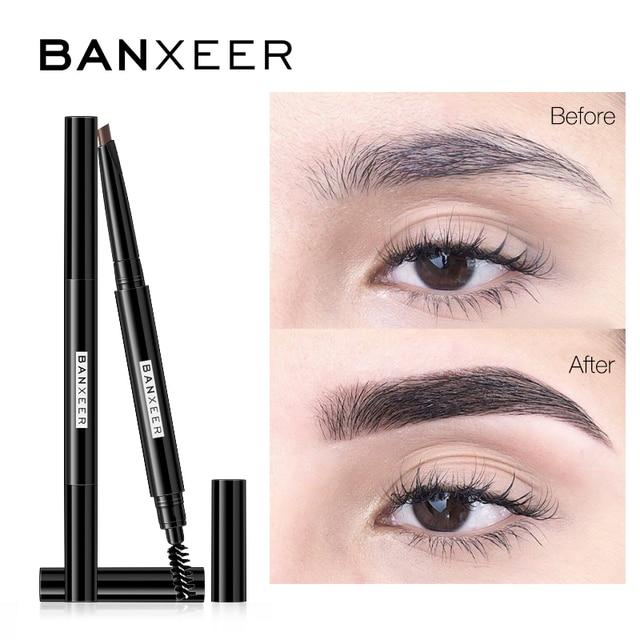 BANXEER Eyebrow 4 Colors Waterproof Eyebrow Long Lasting Eye brow Tattoo Pencil Durable Black Brown Smudge-proof Eye Brow Pencil 1