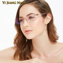 Las mujeres ultraligero De titanio óptico Monturas De Lentes De Mujer gafas graduadas al aire Marco De gafas
