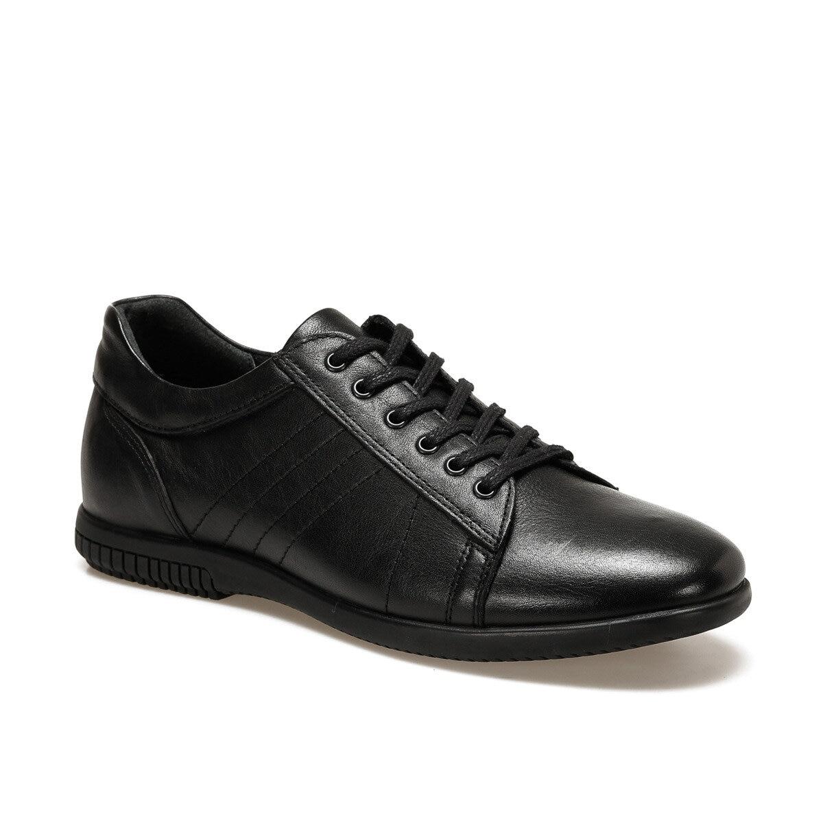 FLO Black Men's Sneakers Men Casual Sport Shoes Flat Lace-up Oxide 1403 M