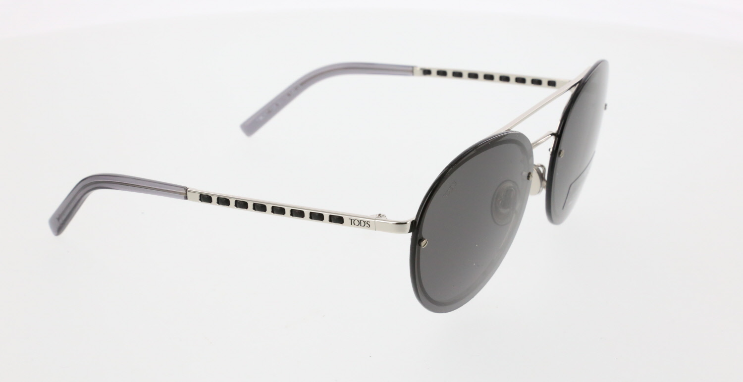 Unisex sunglasses to 0247 18a metal silver organic oval aval 60-16-140 tods