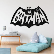 Bat Superhero Wall Sticker Decal Design Superhero Sticker Wall Home Decoration A00332 1200 pieces newest wall sticker black 3d diy pvc bat wall sticker decal home halloween decoration