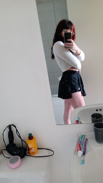 Open Mini Skirt with shorts E-girl photo review
