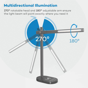 Image 5 - USB יציאת תשלום מודרני LED מנורת שולחן עם QI אלחוטי תשלום טלפון 5 צבע טמפרטורת 6 רמת בהירות משרד עבודה אור