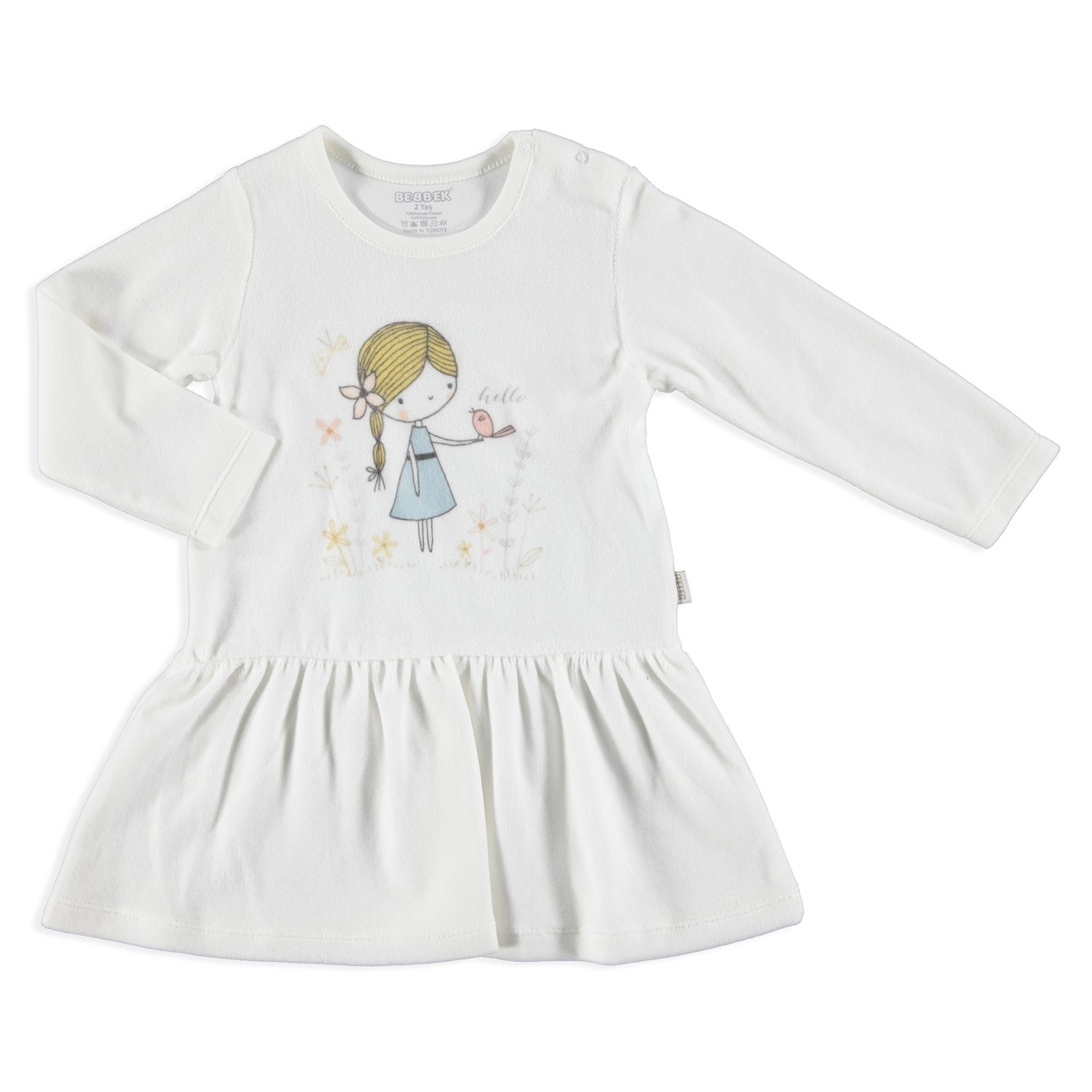 Ebebek Bebbek Love Birds Baby Girl Dress