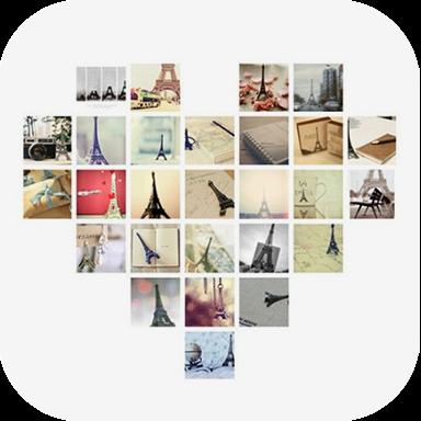 照片拼接破解版用照片拼出各种图形和文字