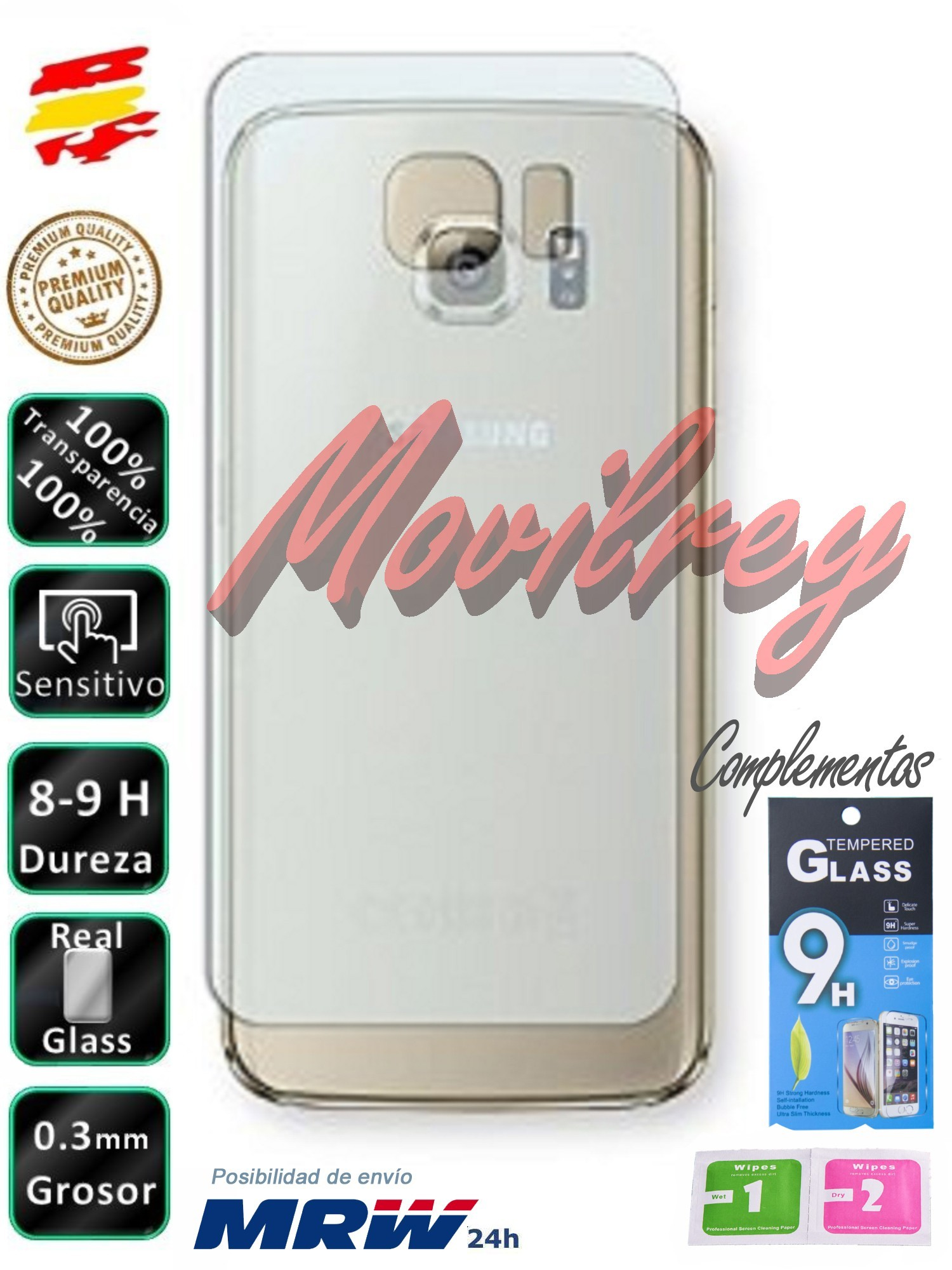 BACK Protector <font><b>Samsung</b></font> Galaxy S6 <font><b>SM</b></font>-<font><b>G920</b></font> Tempered Glass mobile screen image