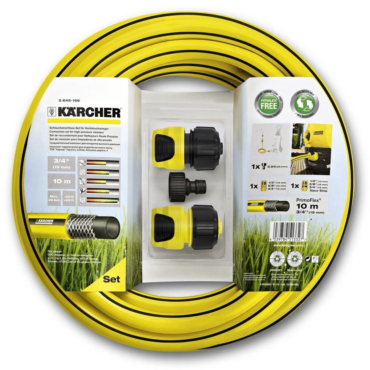Reinforced hose KARCHER (2.645-156) (10 m length, diameter 19mm/3/4 inch suitable for high pressure apparatus))