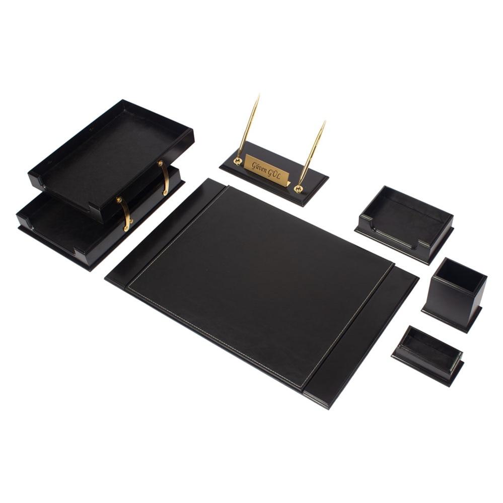 Luxury Wooden Leather Prestij Desk Set