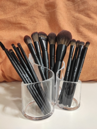 Jessup New Arrival Makeup brushes brushes Phantom Black 3-21pcs Foundation brush Powder Concealer Eyeshadow Synthetic hair reviews №1 49082