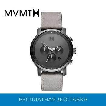 Relógio masculino MVMT com pulseira de couro genuíno, modelo D-MC02-BBLGR