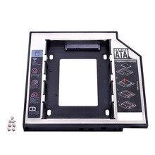 """Kphrtek Thứ Hai 2nd HDD 12.7 Mm 2.5 """"SATA 3.0 SSD Lưng Ổ Adapter + Tặng Đèn LED laptop CD ROM DVD Rom Optibay"""