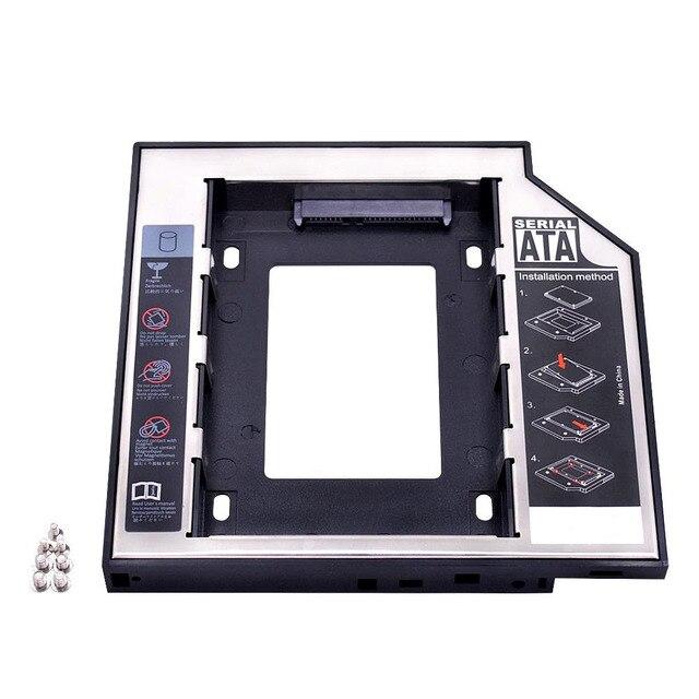 "kphrtek Second 2nd HDD Caddy 12.7mm 2.5"" SATA 3.0 SSD Case Hard Drive Enclosure Adapter + LED for Laptop CD ROM DVD ROM Optibay"