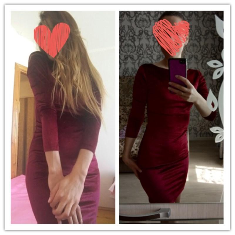 U76f3ee2cfa804e0f96fb4248f72b2ce6G Hirigin Autumn Women Bandage Bodycon Casual Long Sleeve O-neck Evening Party Midi Sexy Velvet Dress
