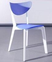 Cadeira lina  polipropileno branco e azul      -