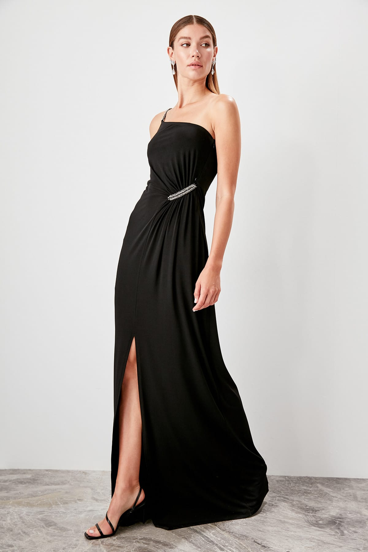 Trendyol Accessory Detailed Evening Dress TPRSS19BB0545