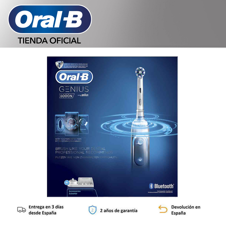 Oral-B Genius 8000N CrossAction Toothbrush electric, 5 modes: bleached, sensitive image