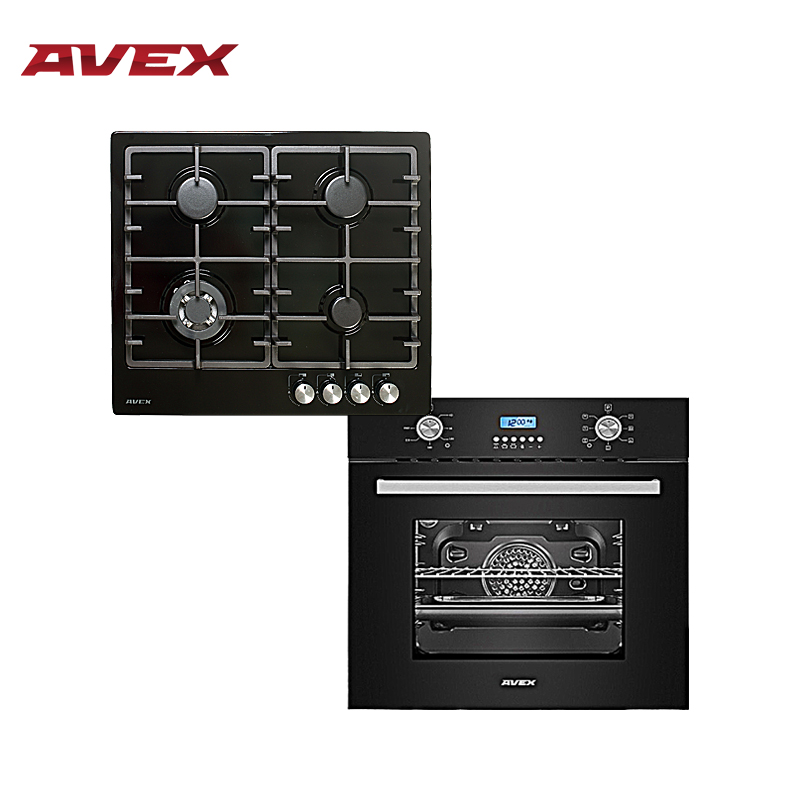 Set the cooktop AVEX HS 6044 B and  electric oven AVEX HM 6170 B