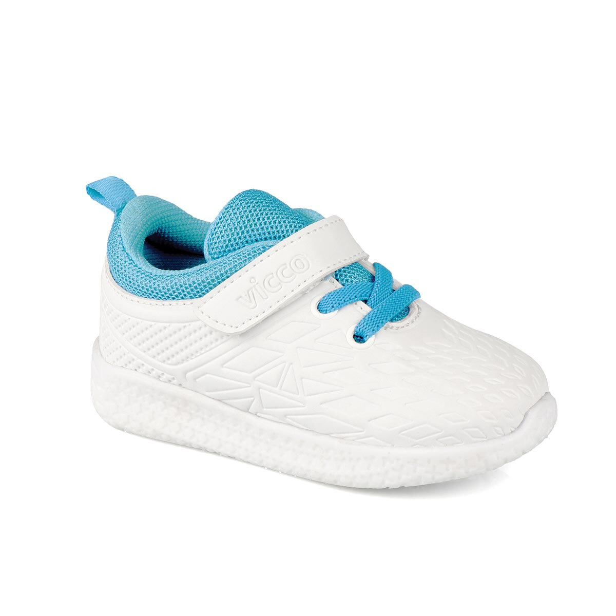 FLO 346.19Y.220 BEBE ILLUMINATED White Male Child Sneaker Shoes VICCO