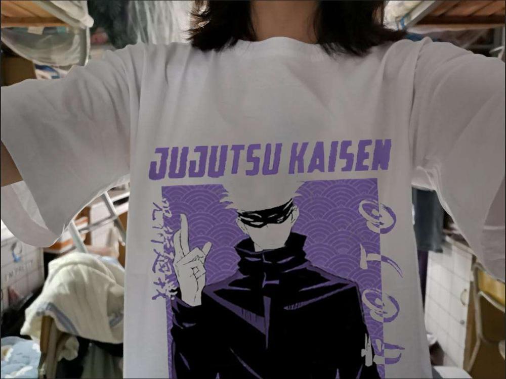 Harajuku Anime Men's tshirt Jujutsu Kaisen Yuji Itadori Printed Unisex Short Sleeve t shirt Casual T-shirt Male Streetwear Tops photo review