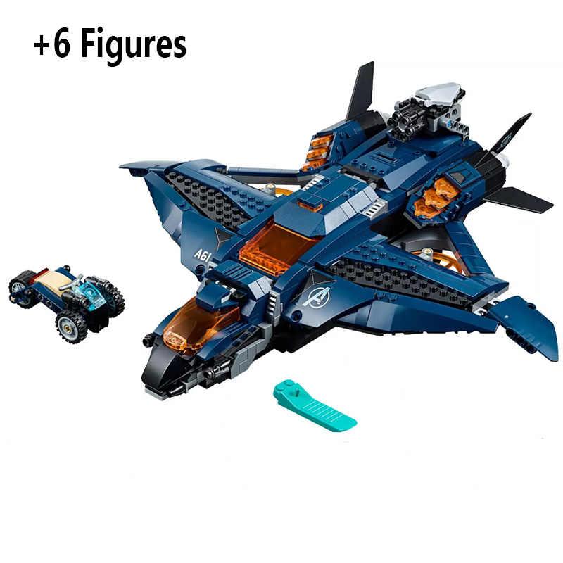 Marvel Avengers Compound Battle 4 Endgame War Machine Buster Ultimate Quinjet Set 76126 76131 76127 Building Blocks Bricks Toys