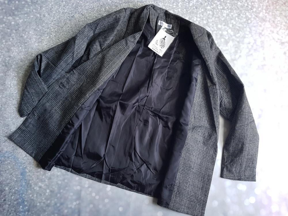 CBAFU autumn spring jacket women suit coats plaid outwear casual turn down collar office wear work runway jackets blazer N785 reviews №10 88692