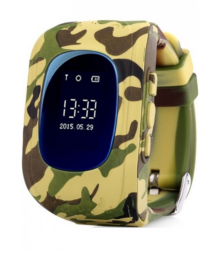 Kids smart watch with <font><b>GPS</b></font> carcam <font><b>Q50</b></font> (forest camouflage) image