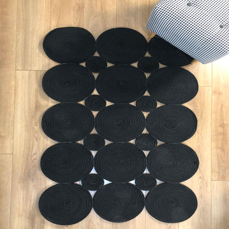 Else Black Natural  Jute Carpet Sisal Nomad Natural Fiber Collection Hand Woven Natural Jute Area Rug For Home Living Room