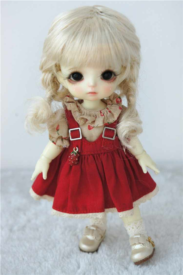 6-7inch Short Baby Curly Mohair Doll Wigs 1//6 YOSD Lati Doll Accessories 5 Color