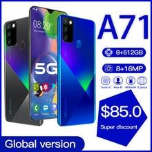 Globalna wersja Galay A71 8GB 512GB 5G Smartphone 6.8