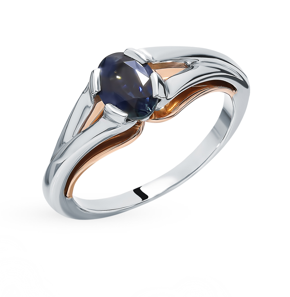 Gold Ring With Sapphire SUNLIGHT Test 585
