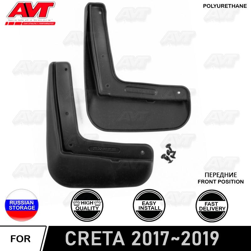 Front mudguard for Hyundai Creta 2017~2019 2 pcs/set  mud flaps splash auto car dirt protection accessories car styling|Chromium Styling| |  -