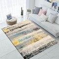 Else Синий Желтый Серый Черный всплеск цвет Nordec 3d принт Нескользящая микрофибра гостиная современный ковер моющийся коврик