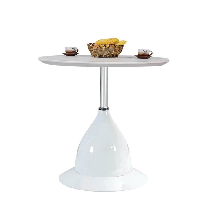 Table DAVOS, Abs White, 80 Cms Diameter