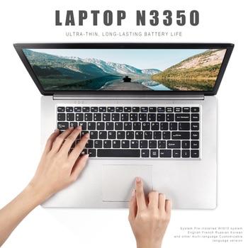 15.6 Inch Laptop Intel N3350 Quad Core 6GB+64GB SSD Windows 10 Notebook 1080P Student Netbook HDMI WiFi USB Office Work Study