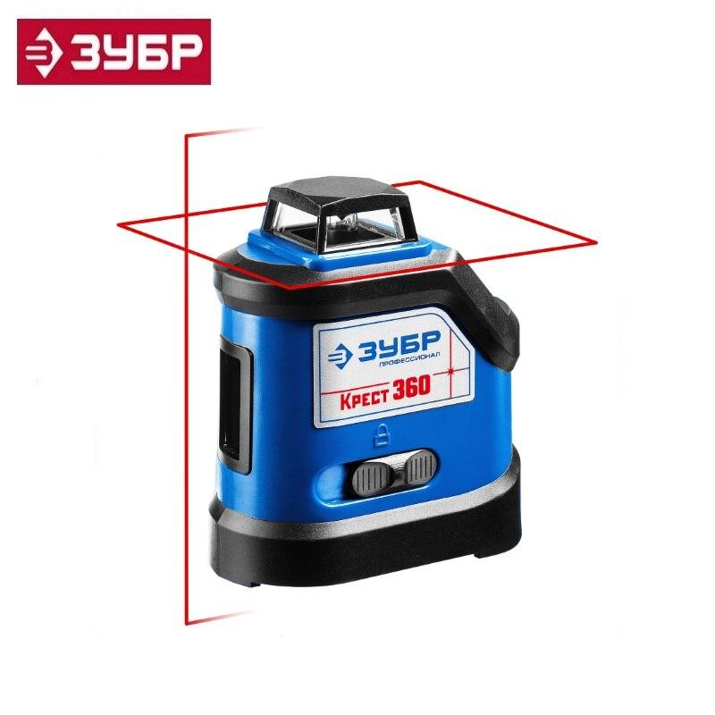 ZUBR CROSS 360 laser level 360 °, 20m / 70m, acc. +/- 0.3 mm / m Horizontal Vertical Measuring Instrument