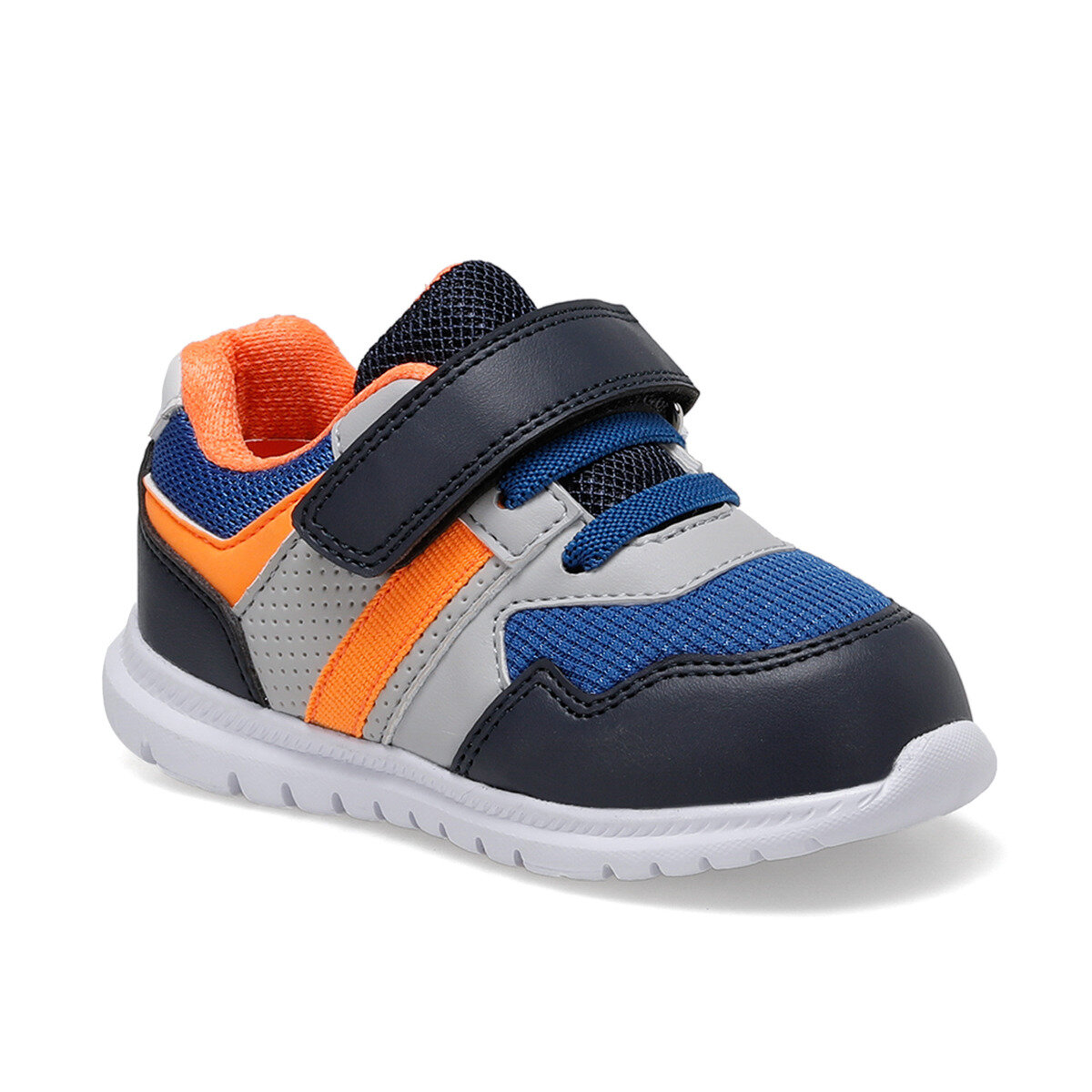 FLO LINES Navy Blue Male Child Hiking Shoe I-Cool