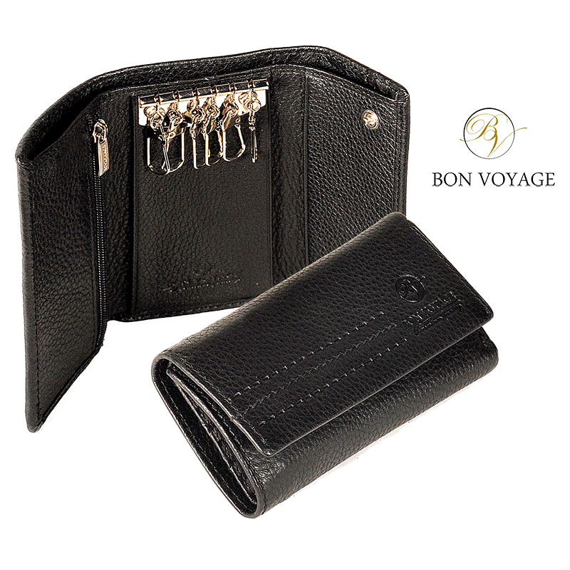 Bon Voyage Key Keeper Made Of Genuine Leather