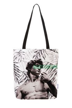 Home & bath % 100 cotton woman beach bag both sides printed inner pocket zipped waterproof washable Of The Green rome