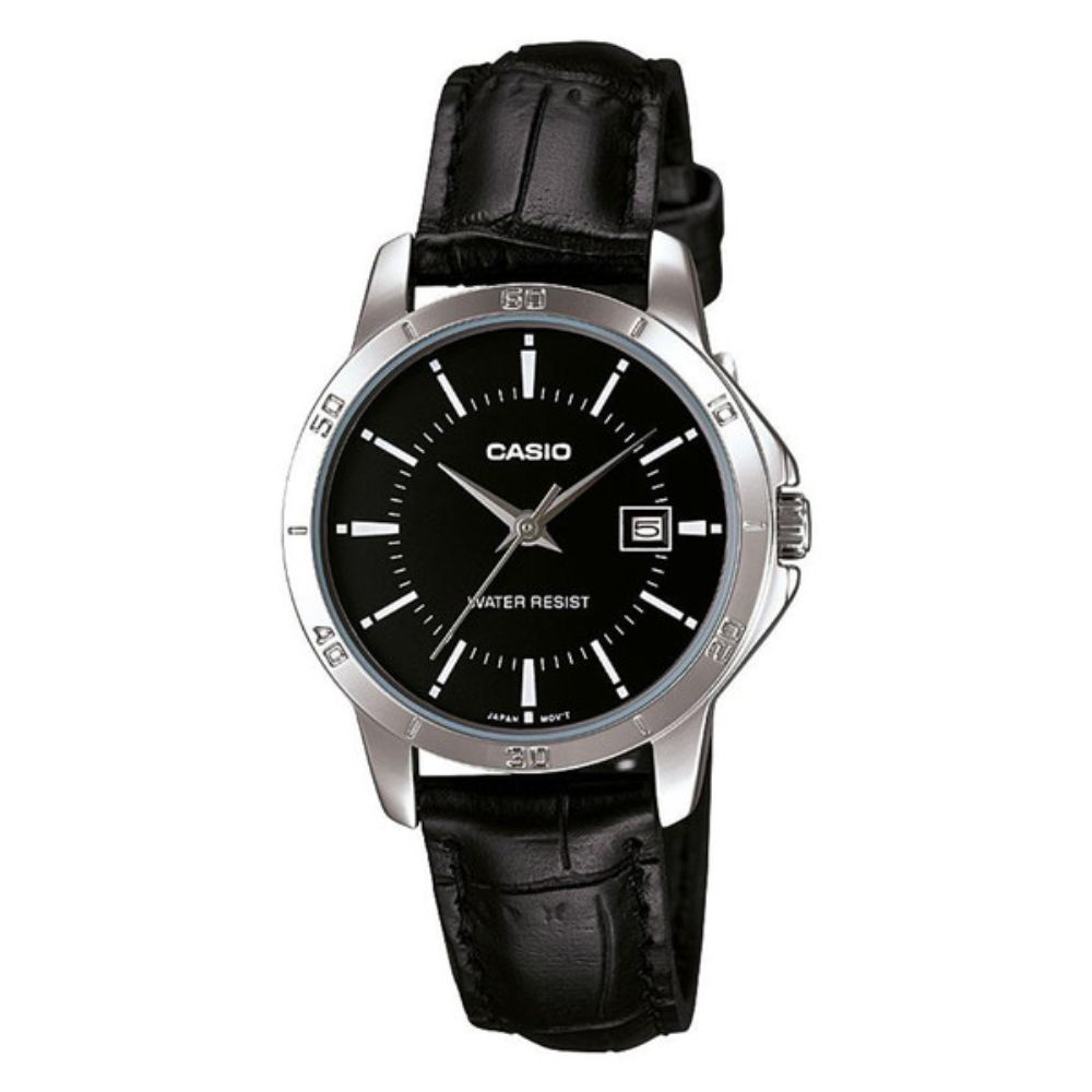 Casio Women's Watch Quartz Leather Band Analog Original Top Brand Quality Casio Black Women Watch Stainless Steel Mineral Dial