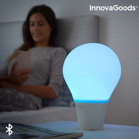 Vender https://ae01.alicdn.com/kf/U7774d83bbb1c42adb04c8764ce759f21w/Lámpara Bombilla LED Táctil de Silicona con Altavoz Silitone InnovaGoods.jpg
