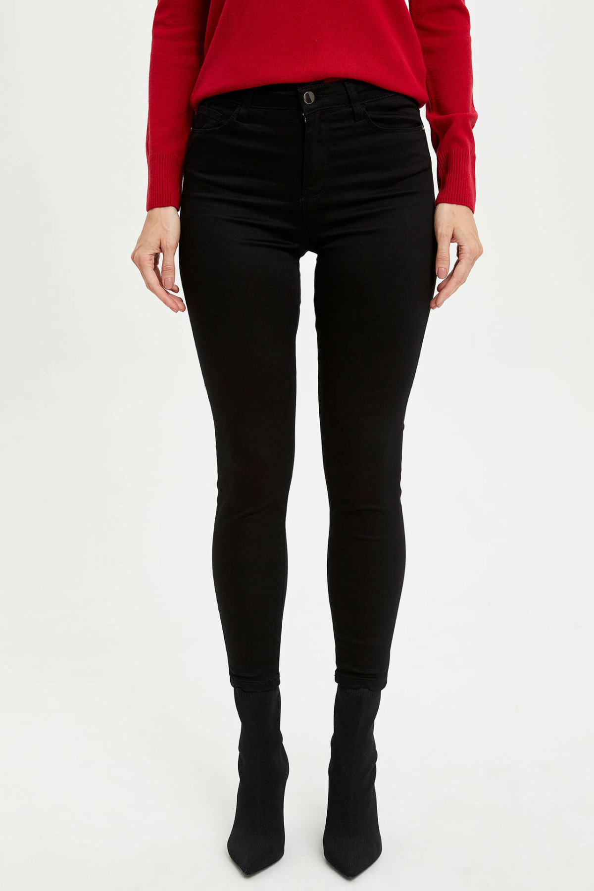 DeFacto Female Fashion Solid Leisure Pencil Trousers For Women's Casual Slim Pants Comfort Long Pants Ladies -M1442AZ19AU