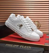 PL011 Top Qualité Philipp Plein homme En Cuir Chaussures Décontractées Pour La mode Chaussures de Course Chaussures Décontractées En Plein Air Chaussures De Sport Baskets