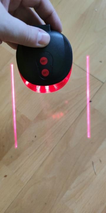Bike Laser Lights LED Rear Tail light photo review