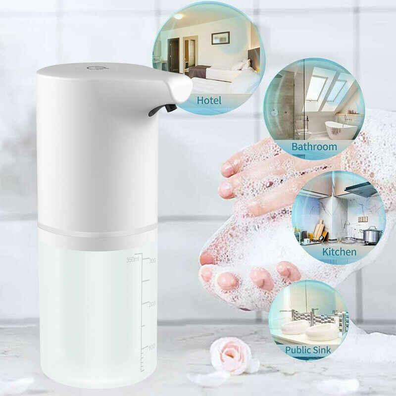 250//1200ML Auto Infrared Sensor Hand-Free Touchless Spray Foam Soap Dispenser US
