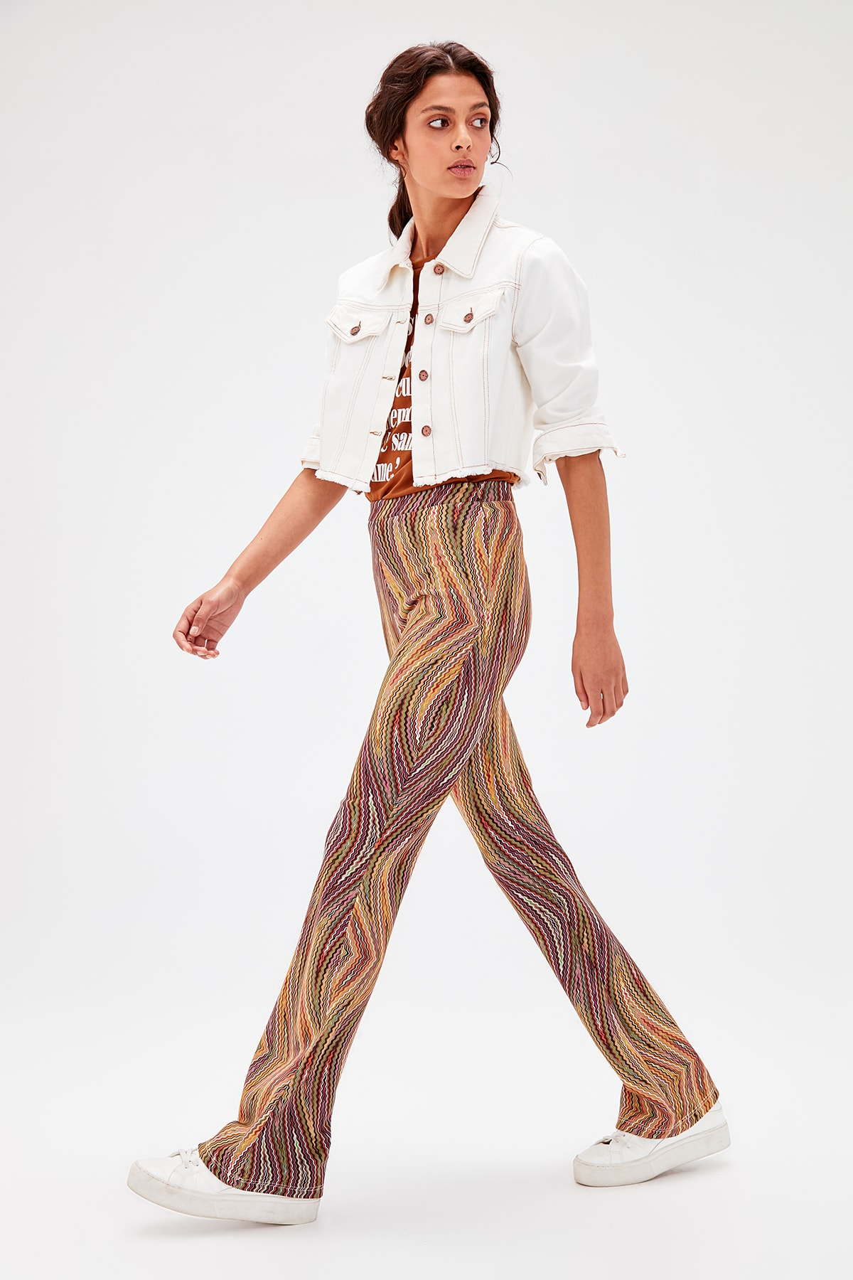 Trendyol Multicolour Pattern Knitting Pants TWOAW20PL0240